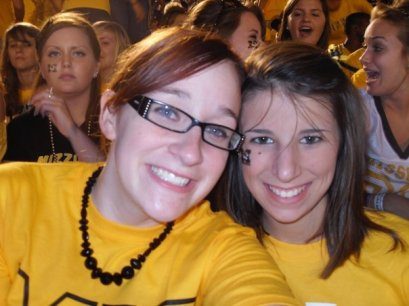 Freshman year football game at Mizzou. Aww. Throwback.